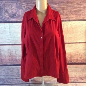 Express Women Tops Blouses Color Red On Poshmark